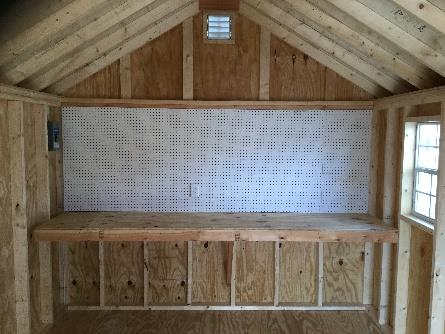 pegboard for backyard shed