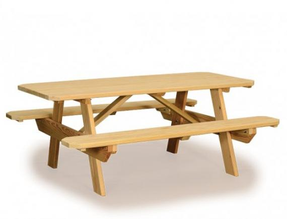 Wood Picnic Tables For Sale Space Makers Sheds