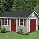 Shed with a red door